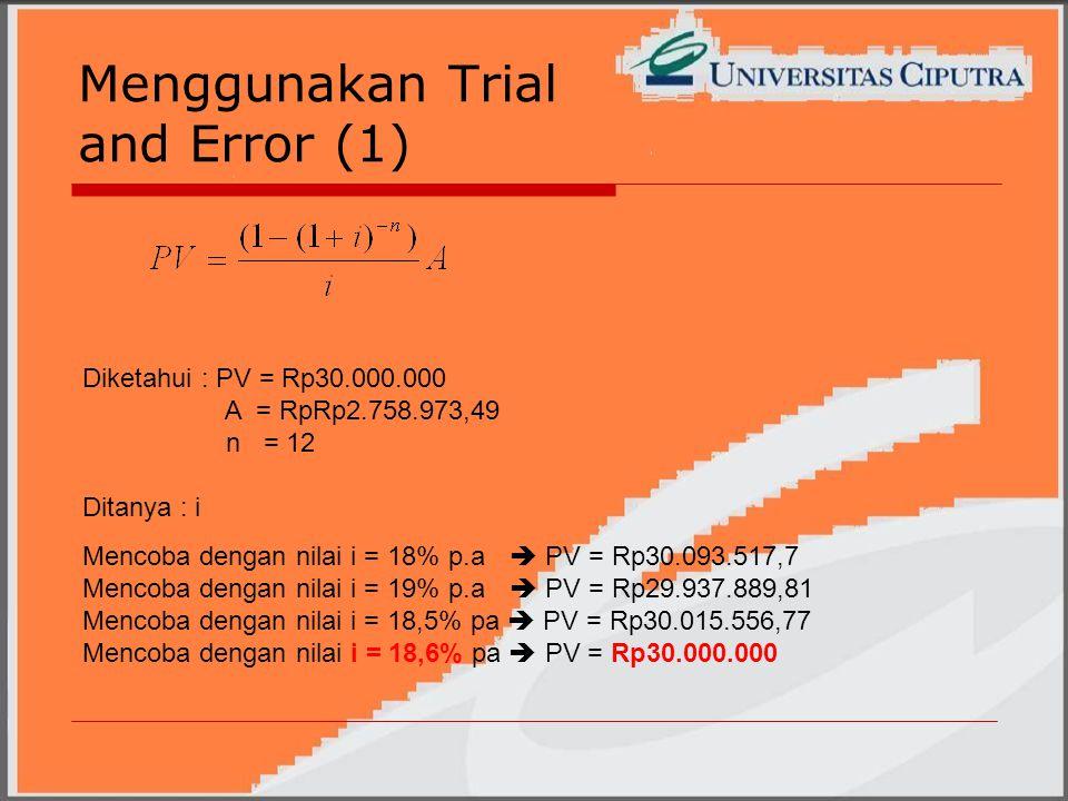 Menggunakan Trial and Error (1)