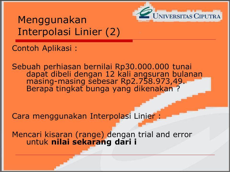Menggunakan Interpolasi Linier (2)