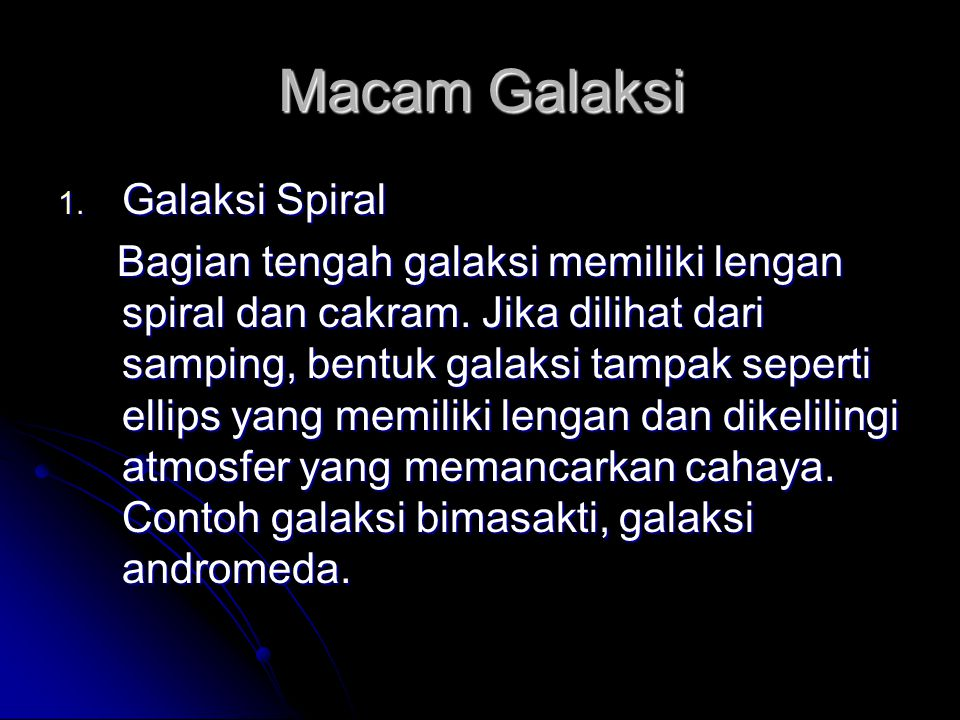 Macam Galaksi Galaksi Spiral