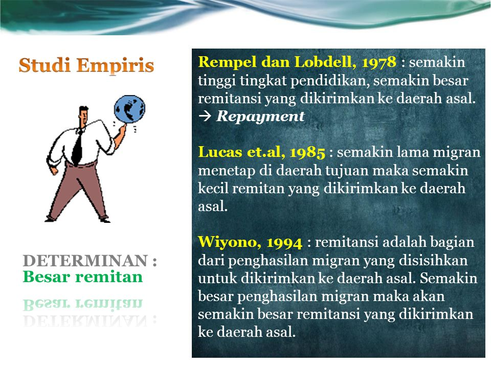DETERMINAN : Besar remitan