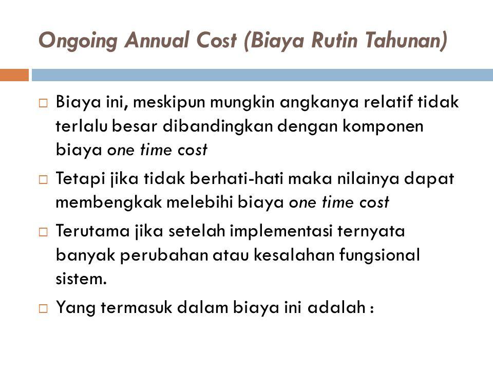 Ongoing Annual Cost (Biaya Rutin Tahunan)