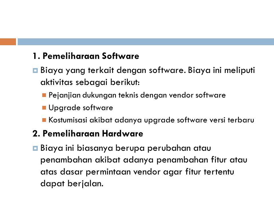 1. Pemeliharaan Software