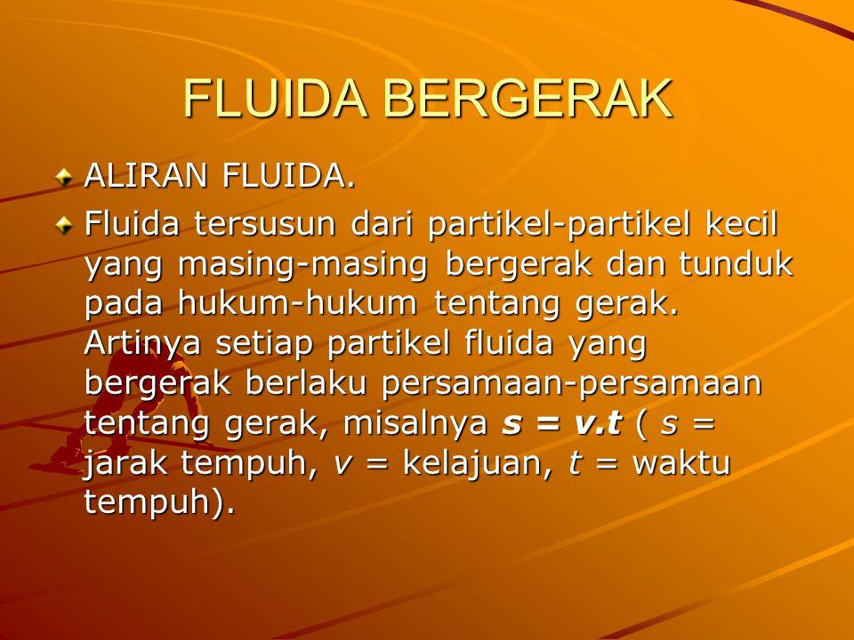 FLUIDA BERGERAK ALIRAN FLUIDA.