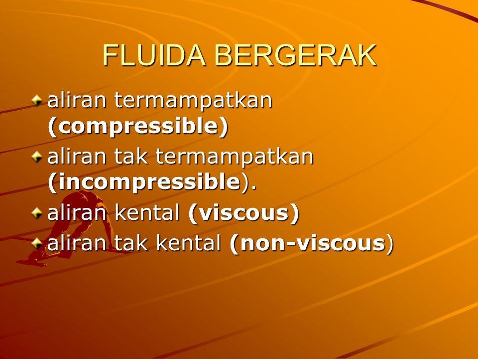 FLUIDA BERGERAK aliran termampatkan (compressible)