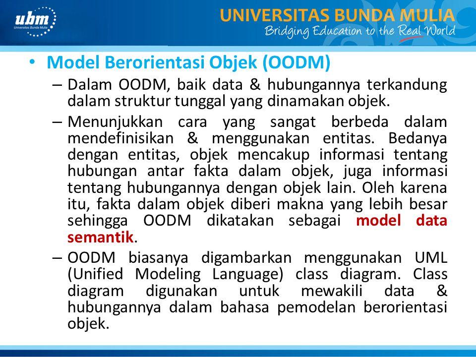 Model Berorientasi Objek (OODM)