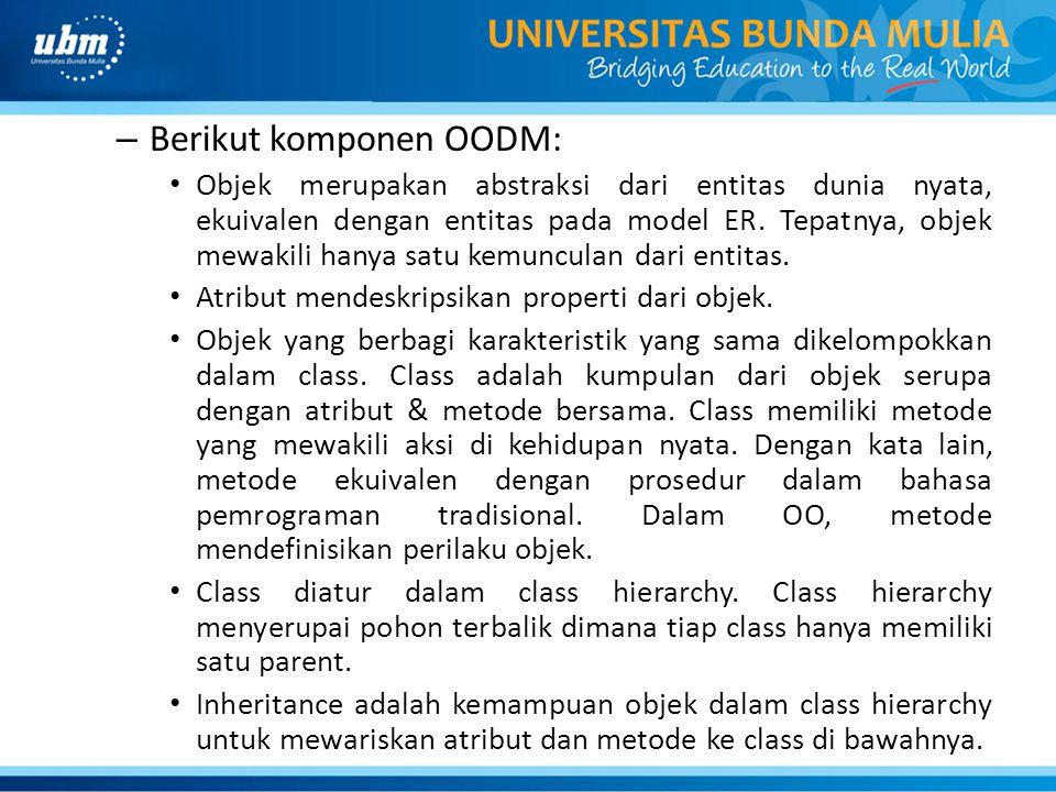 Berikut komponen OODM: