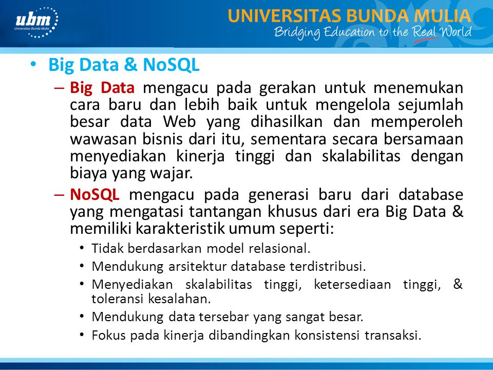 Big Data & NoSQL
