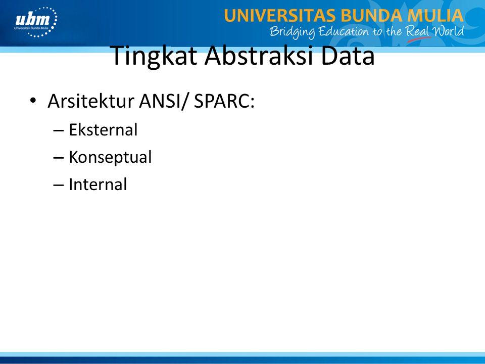 Tingkat Abstraksi Data