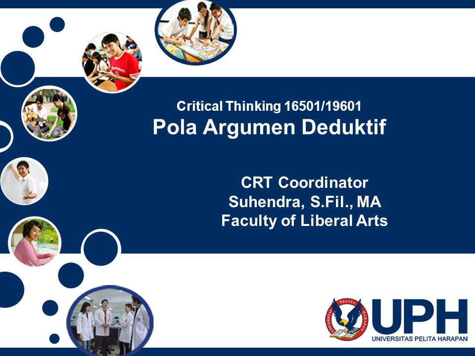 Critical Thinking 16501/19601 Pola Argumen Deduktif