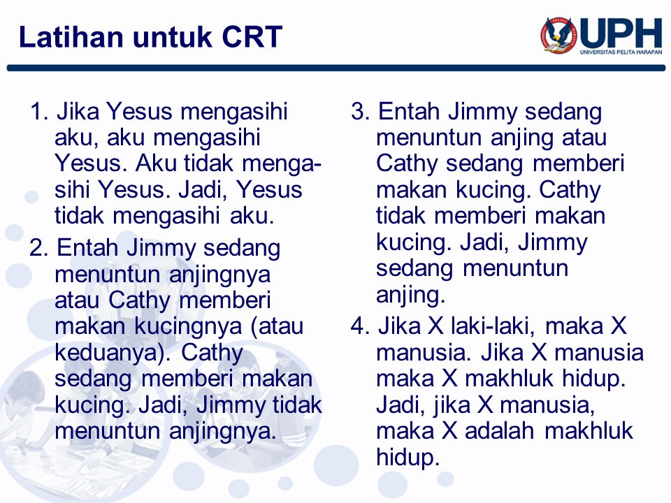 Latihan untuk CRT