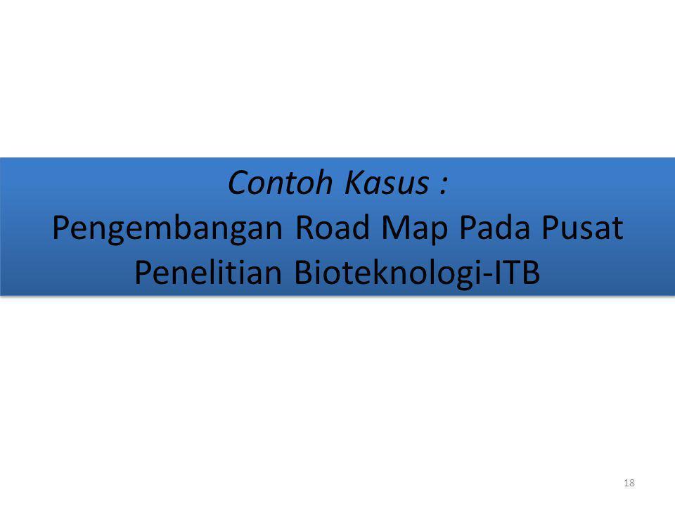 Contoh Kasus : Pengembangan Road Map Pada Pusat Penelitian Bioteknologi-ITB