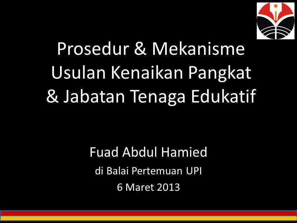 Prosedur & Mekanisme Usulan Kenaikan Pangkat & Jabatan Tenaga Edukatif