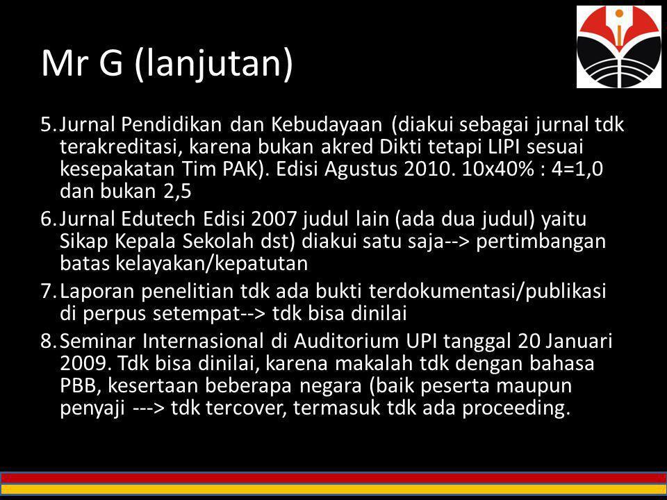 Mr G (lanjutan)