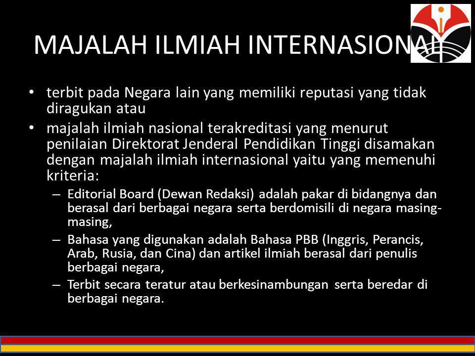 MAJALAH ILMIAH INTERNASIONAL