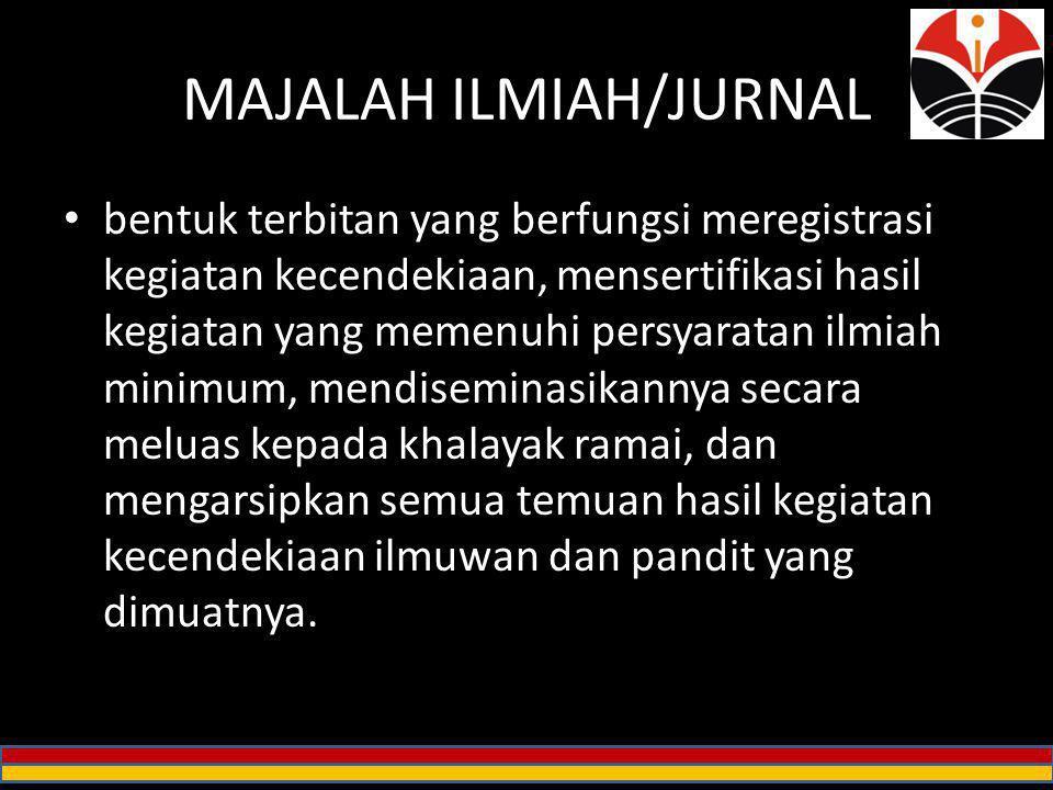 MAJALAH ILMIAH/JURNAL