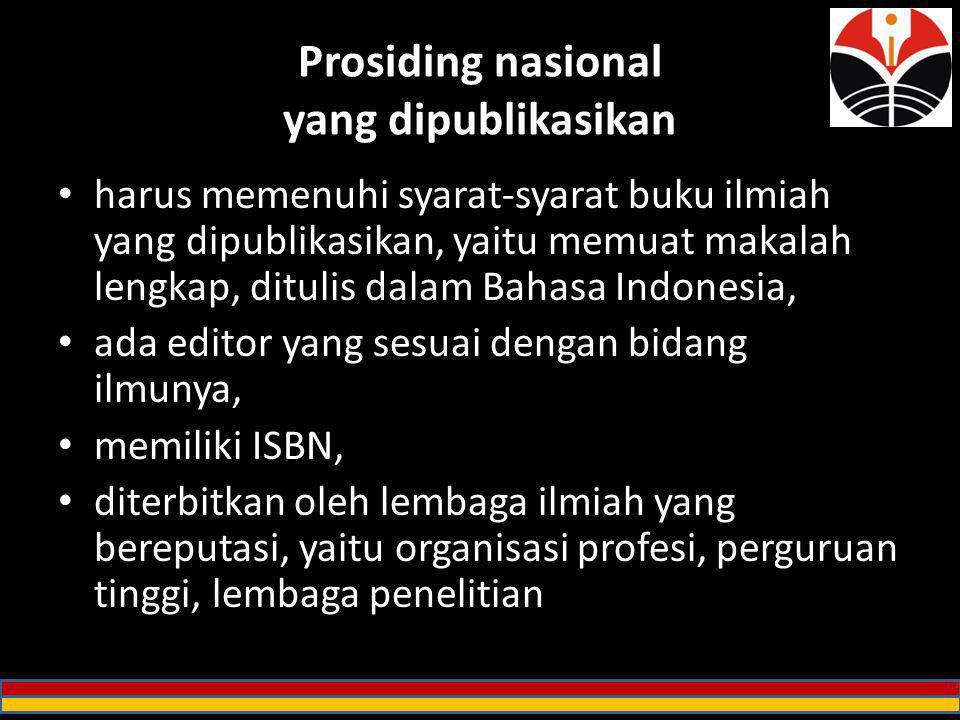 Prosiding nasional yang dipublikasikan
