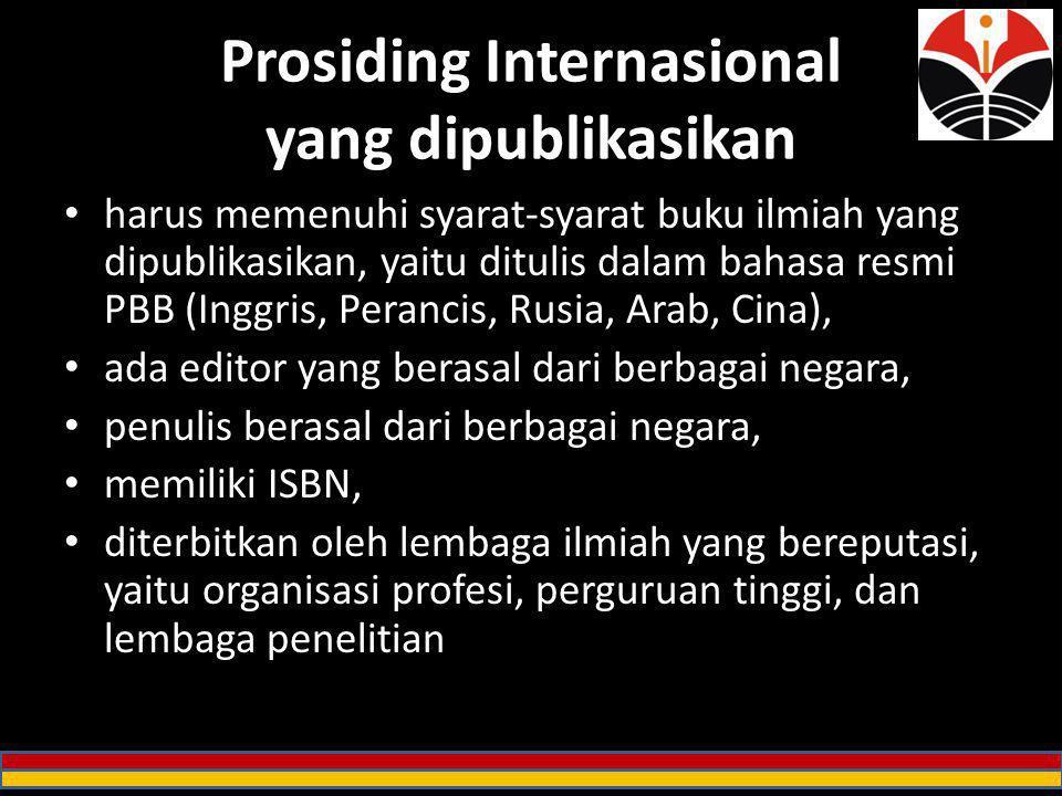 Prosiding Internasional yang dipublikasikan