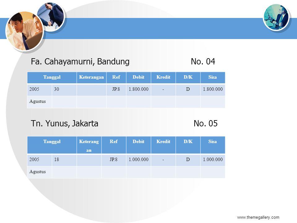 Fa. Cahayamurni, Bandung No. 04
