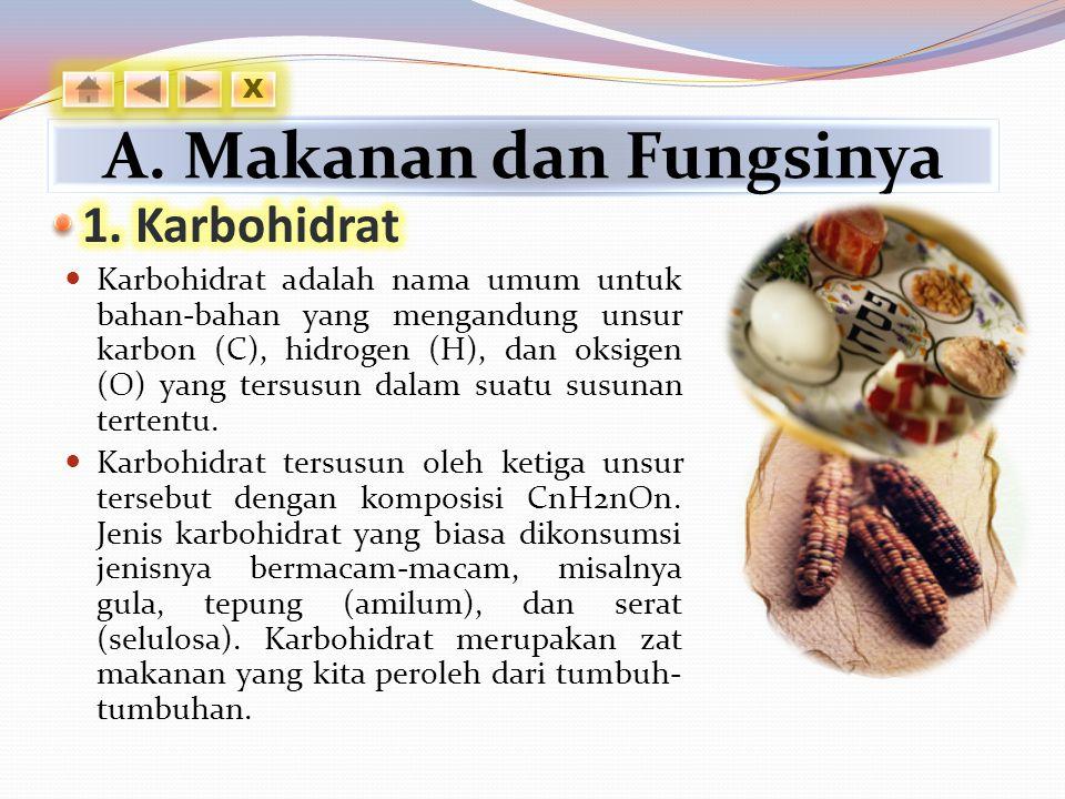 A. Makanan dan Fungsinya