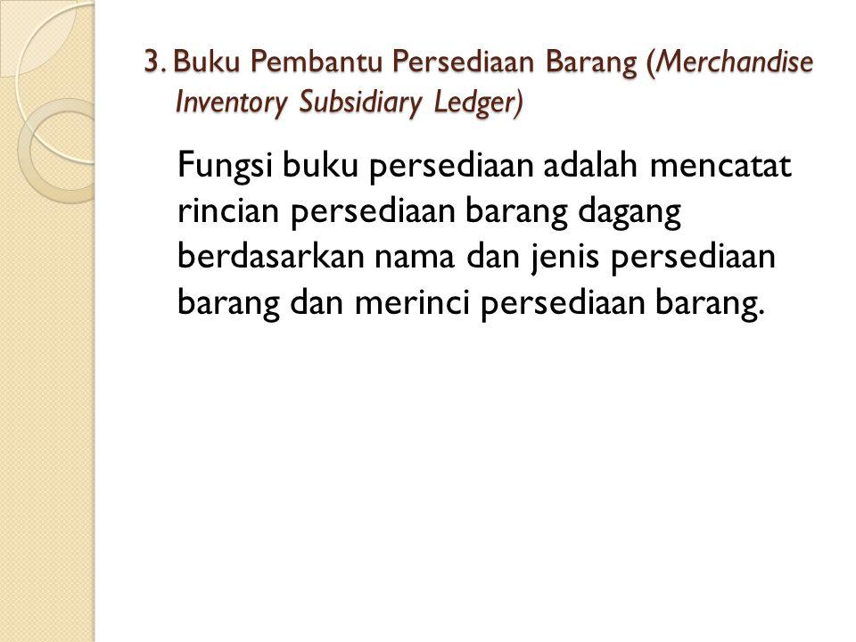 3. Buku Pembantu Persediaan Barang (Merchandise Inventory Subsidiary Ledger)