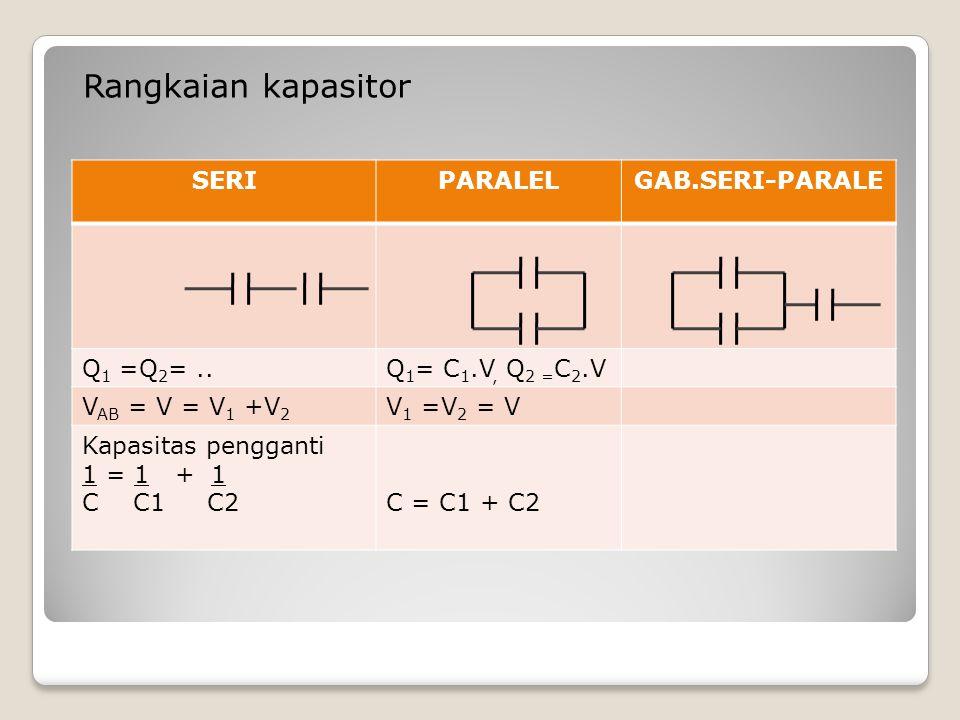 Rangkaian kapasitor SERI PARALEL GAB.SERI-PARALE Q1 =Q2= ..