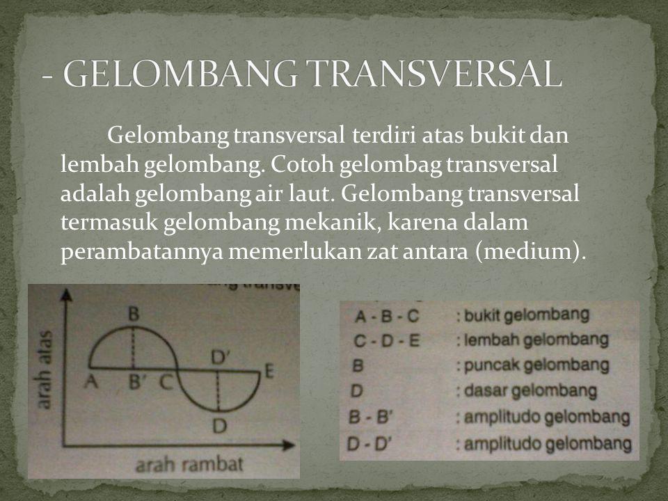 - GELOMBANG TRANSVERSAL