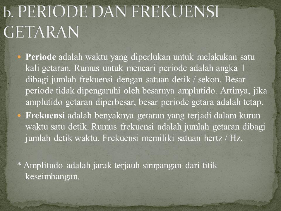 b. PERIODE DAN FREKUENSI GETARAN