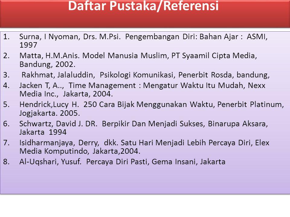 Daftar Pustaka/Referensi