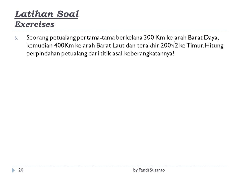 Latihan Soal Exercises
