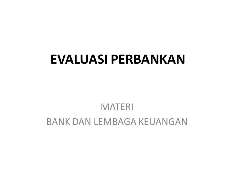 MATERI BANK DAN LEMBAGA KEUANGAN
