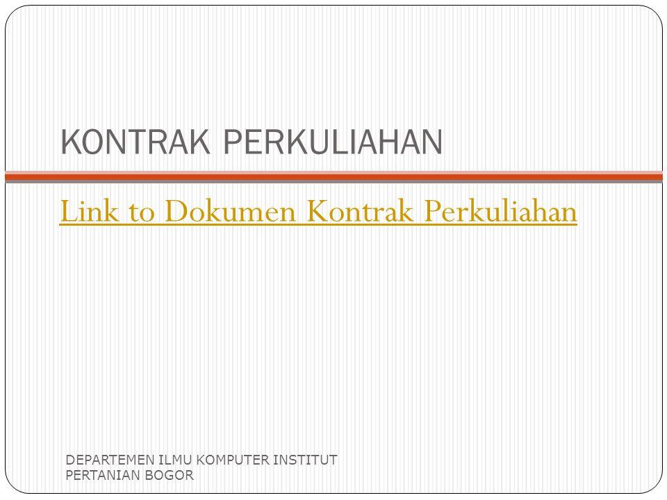 Link to Dokumen Kontrak Perkuliahan