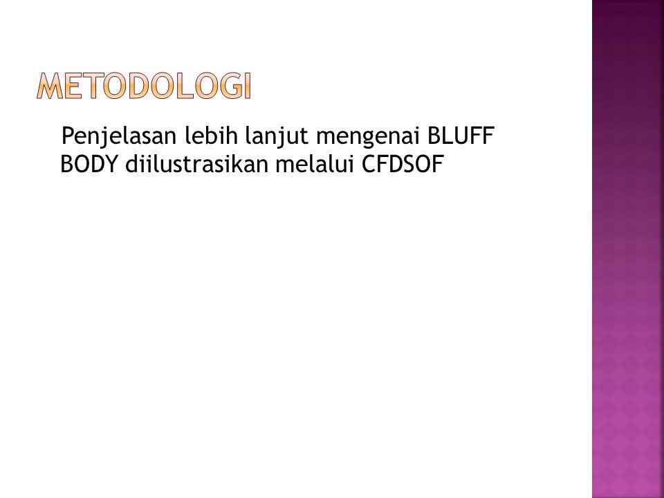 Metodologi Penjelasan lebih lanjut mengenai BLUFF BODY diilustrasikan melalui CFDSOF