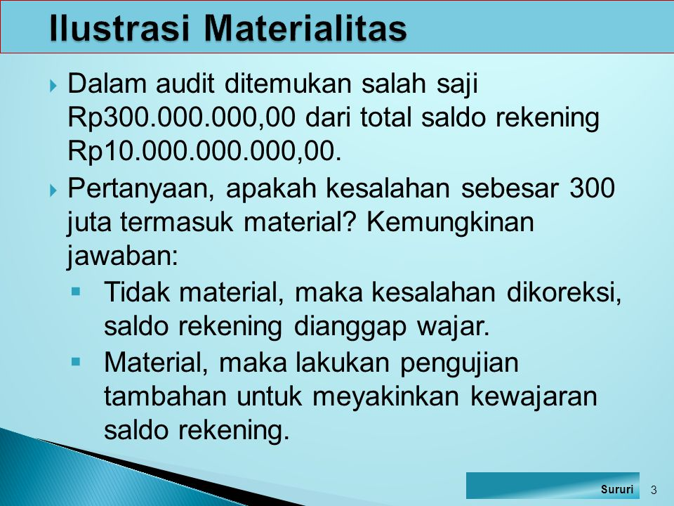 Ilustrasi Materialitas
