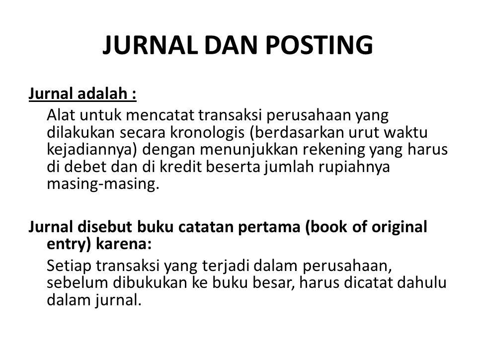JURNAL DAN POSTING