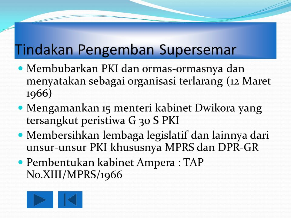 Tindakan Pengemban Supersemar