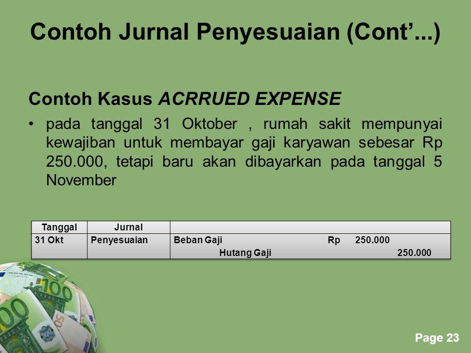 Contoh Jurnal Penyesuaian (Cont'...)