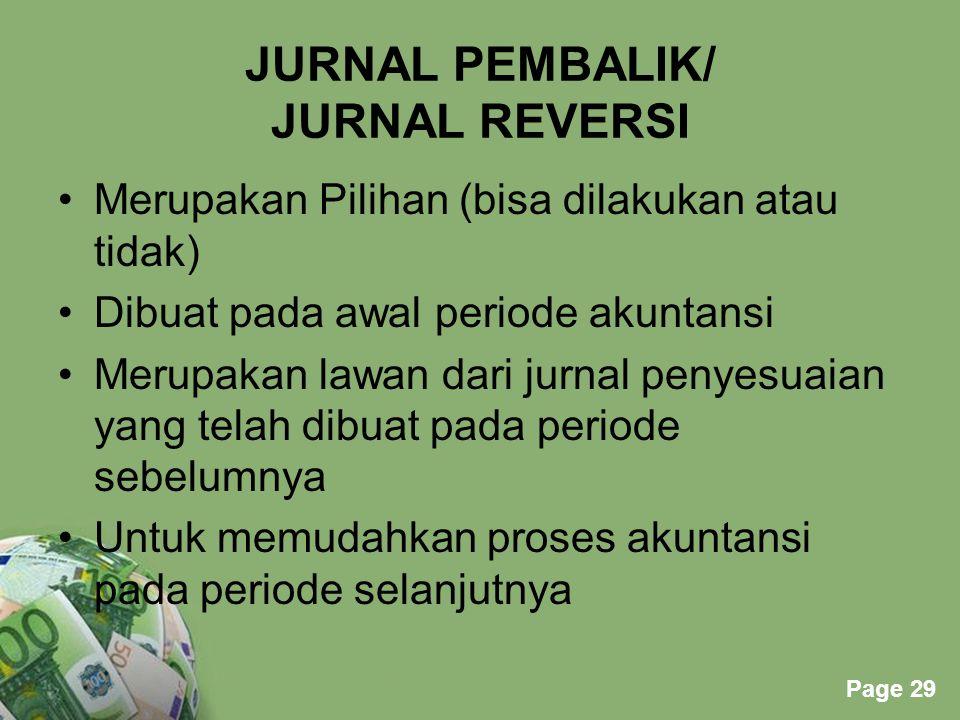 JURNAL PEMBALIK/ JURNAL REVERSI