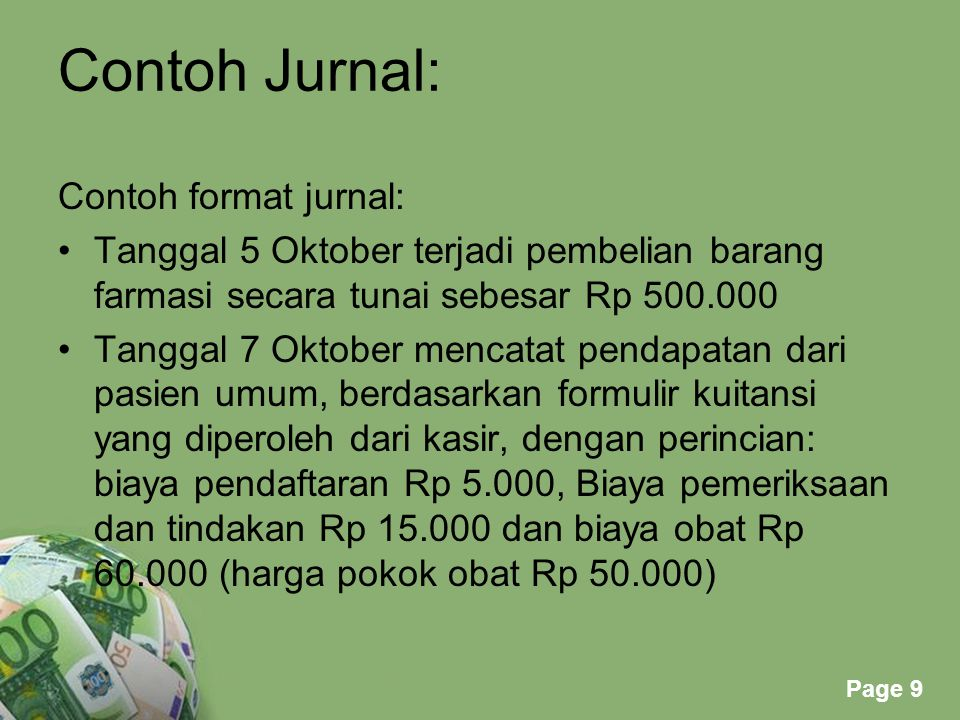 Contoh Jurnal: Contoh format jurnal:
