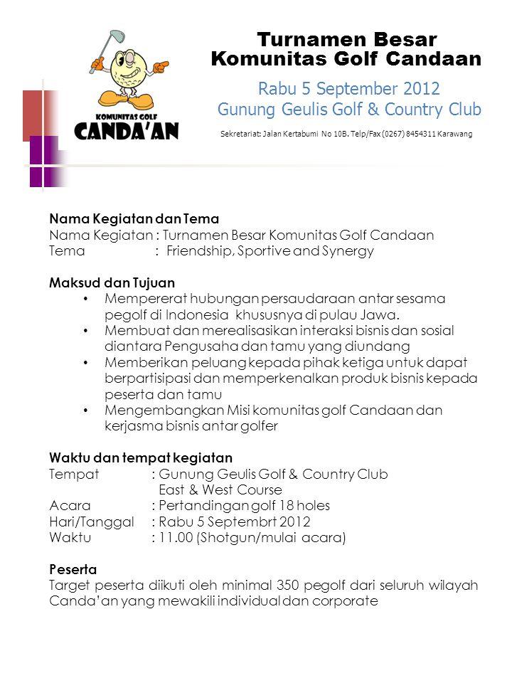 Turnamen Besar Komunitas Golf Candaan