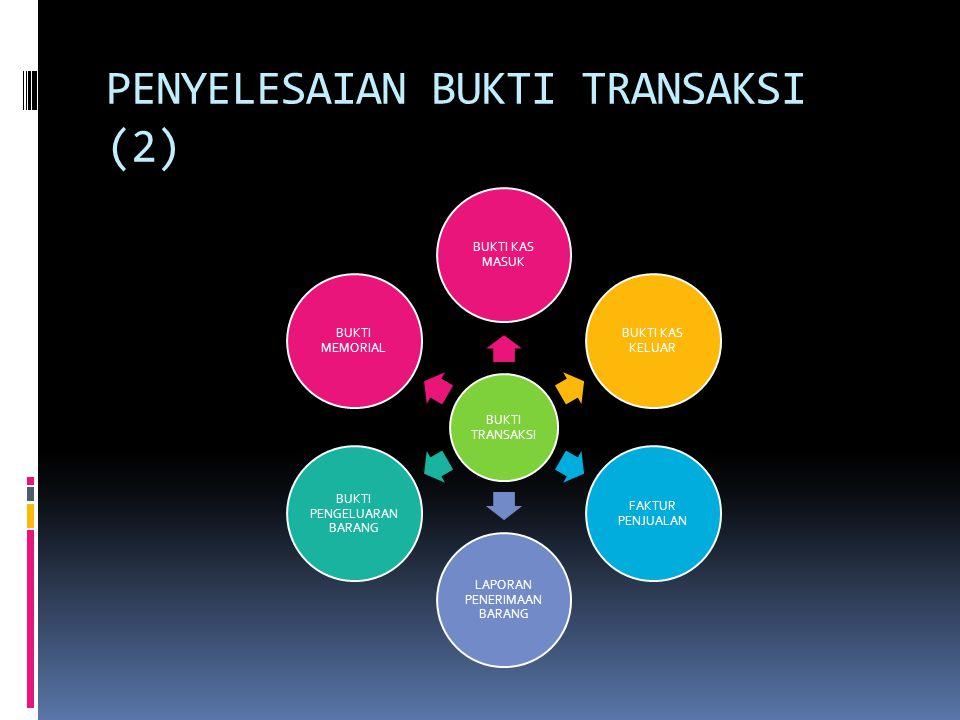 PENYELESAIAN BUKTI TRANSAKSI (2)