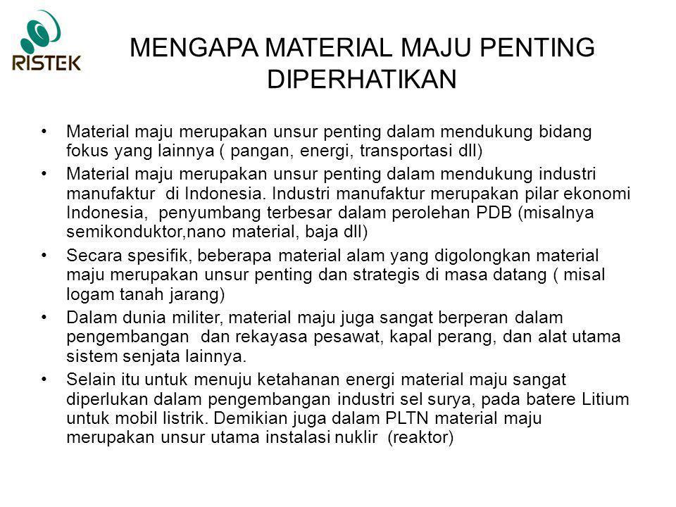 MENGAPA MATERIAL MAJU PENTING DIPERHATIKAN