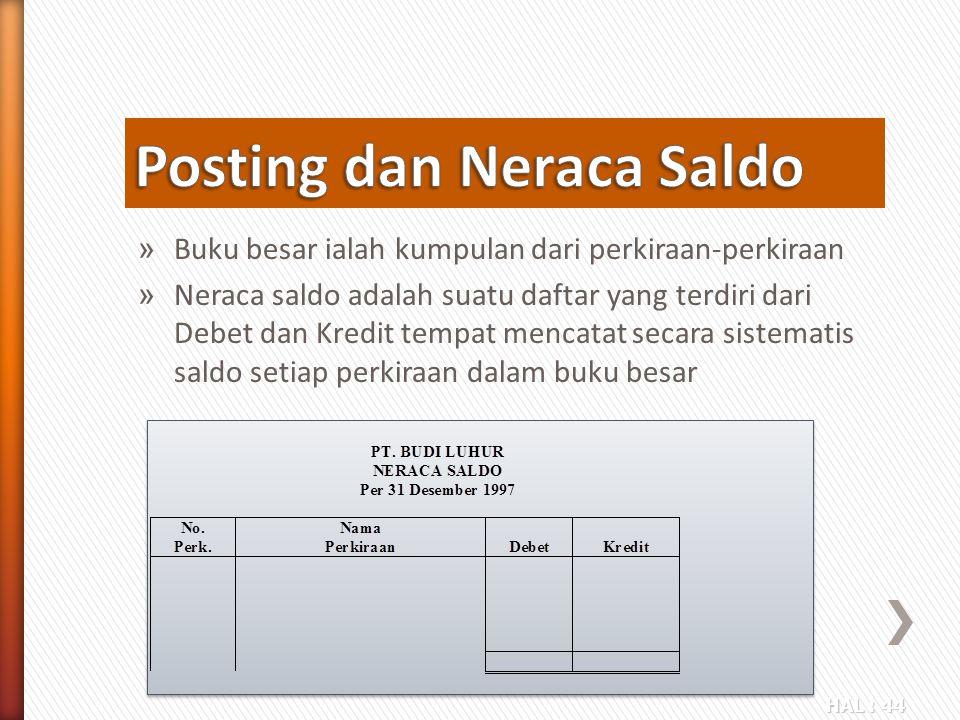 Posting dan Neraca Saldo