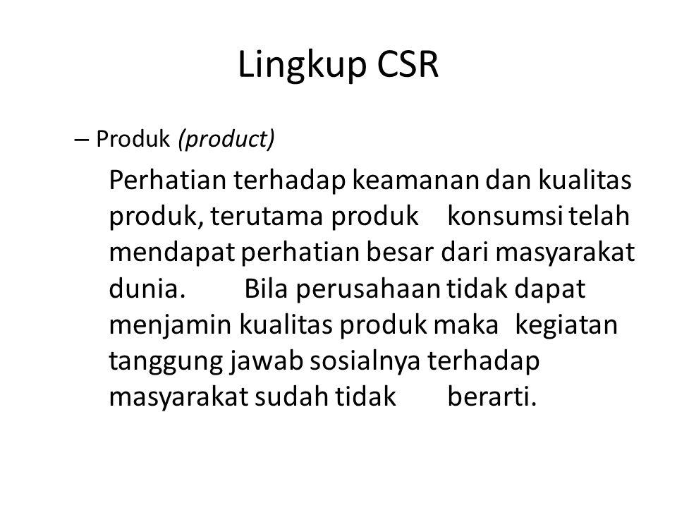 Lingkup CSR Produk (product)