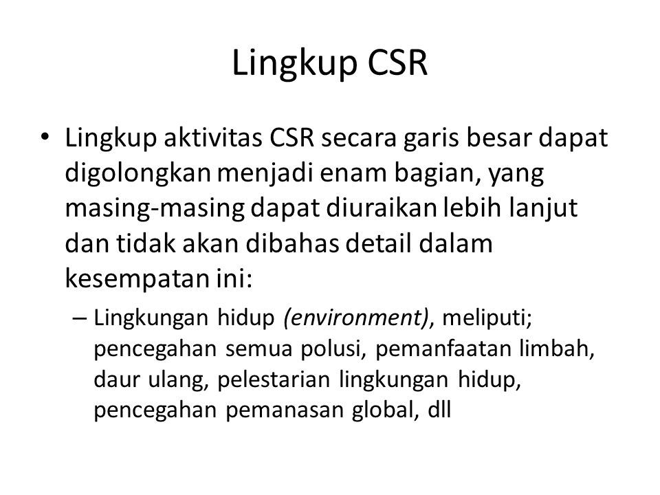 Lingkup CSR