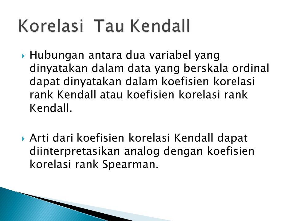 Korelasi Tau Kendall