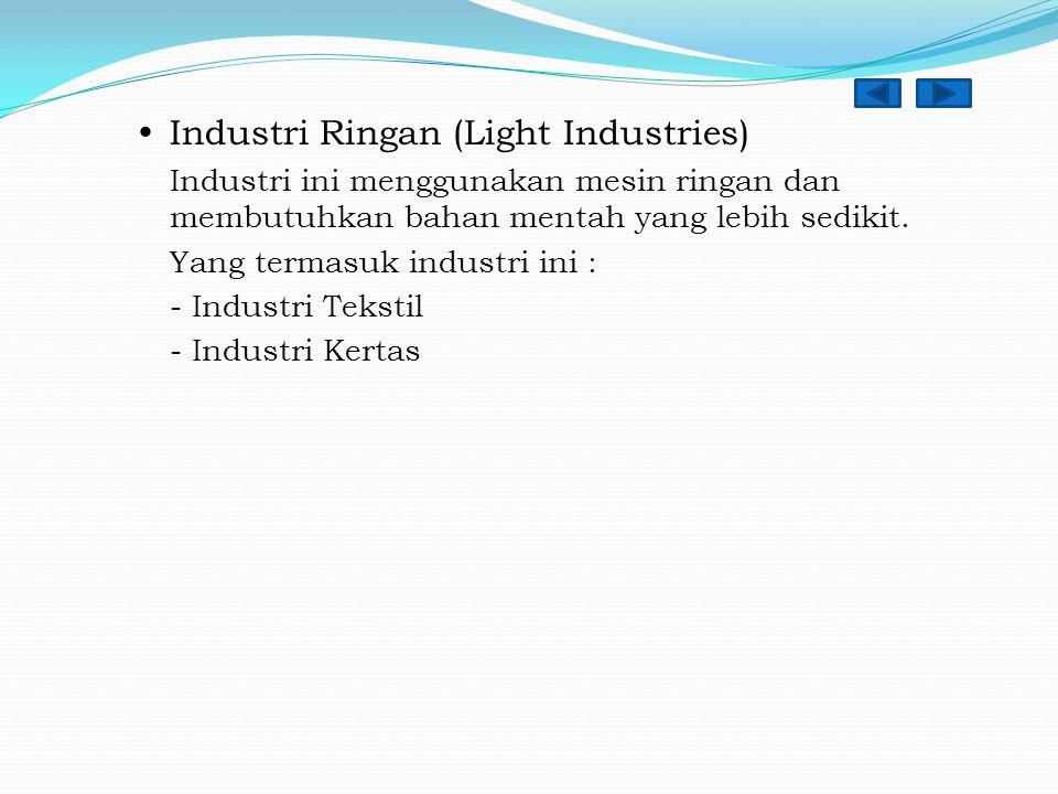  Industri Ringan (Light Industries)