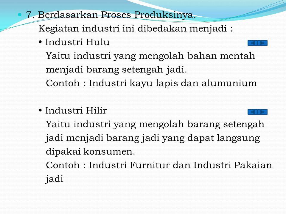 7. Berdasarkan Proses Produksinya.