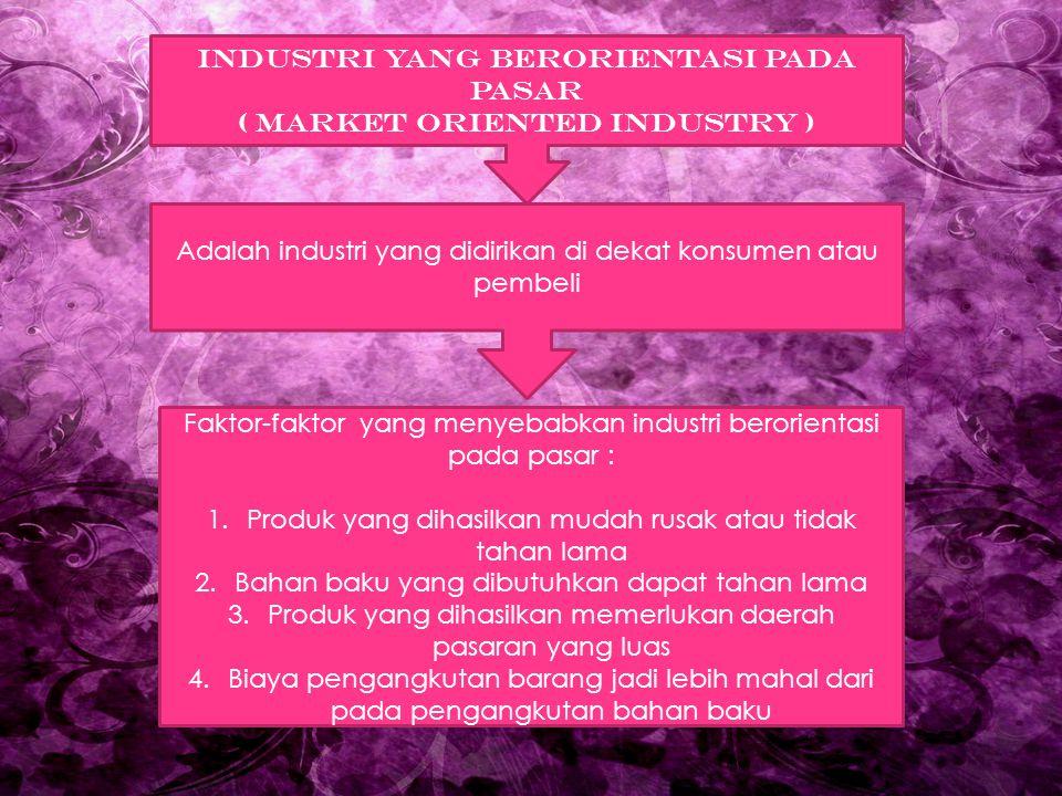 INDUSTRI YANG BERORIENTASI PADA PASAR ( MARKET ORIENTED INDUSTRY )