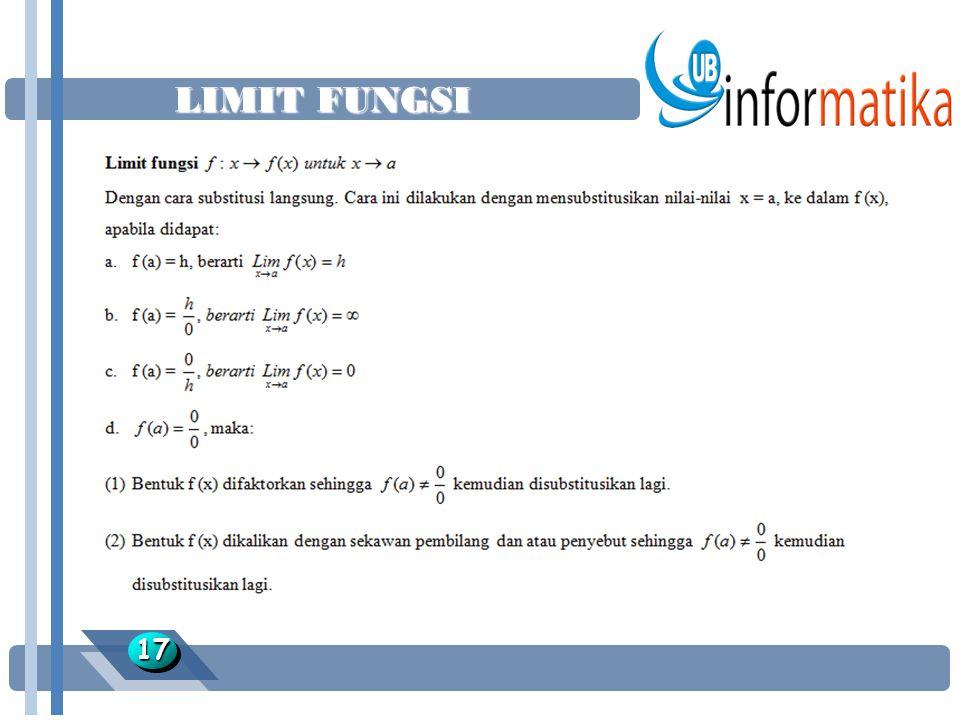 LIMIT FUNGSI 17