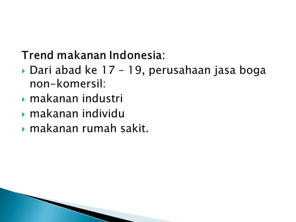 Trend makanan Indonesia: